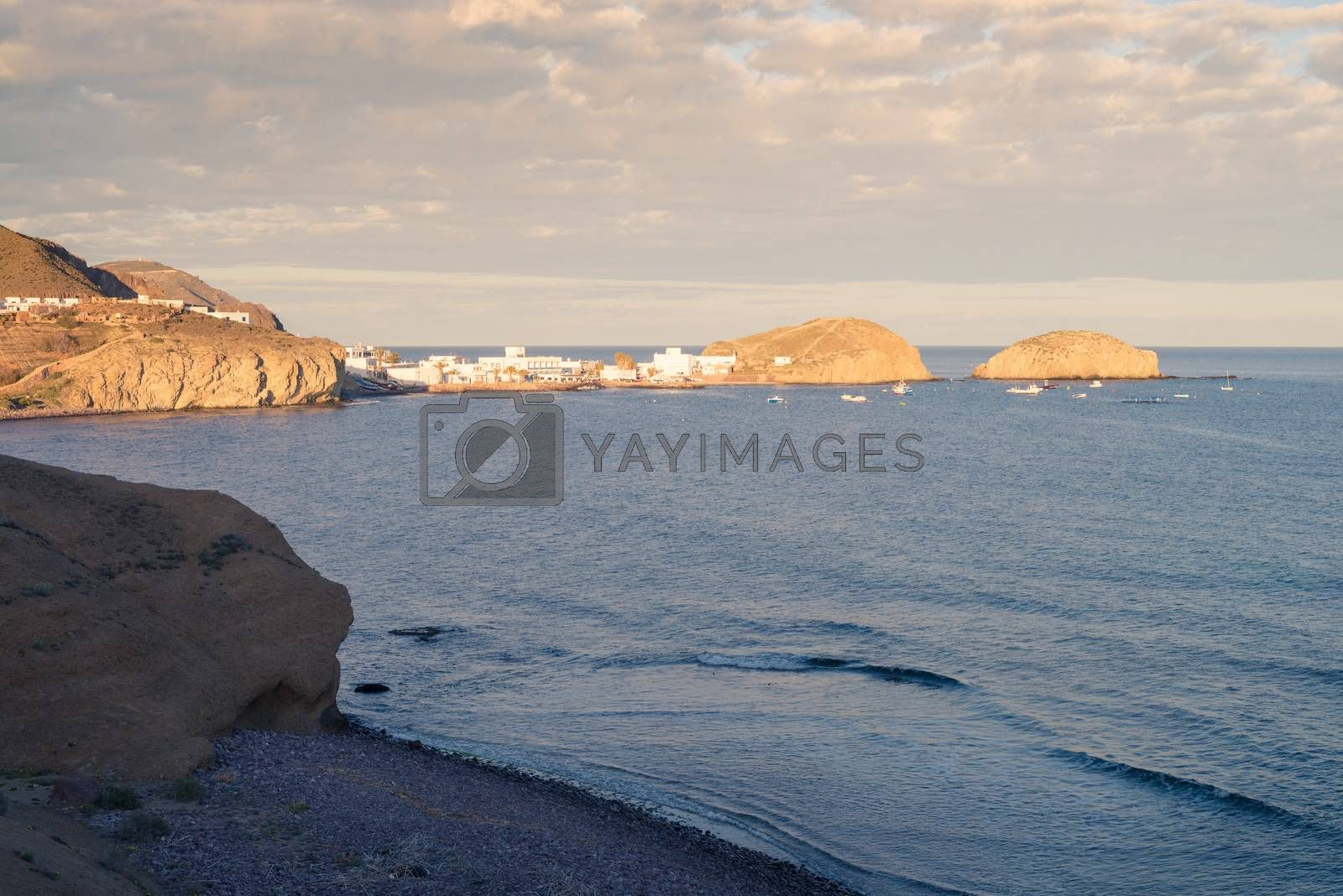 Late afternoon light on Cabo de Gata coast, Andaluisa