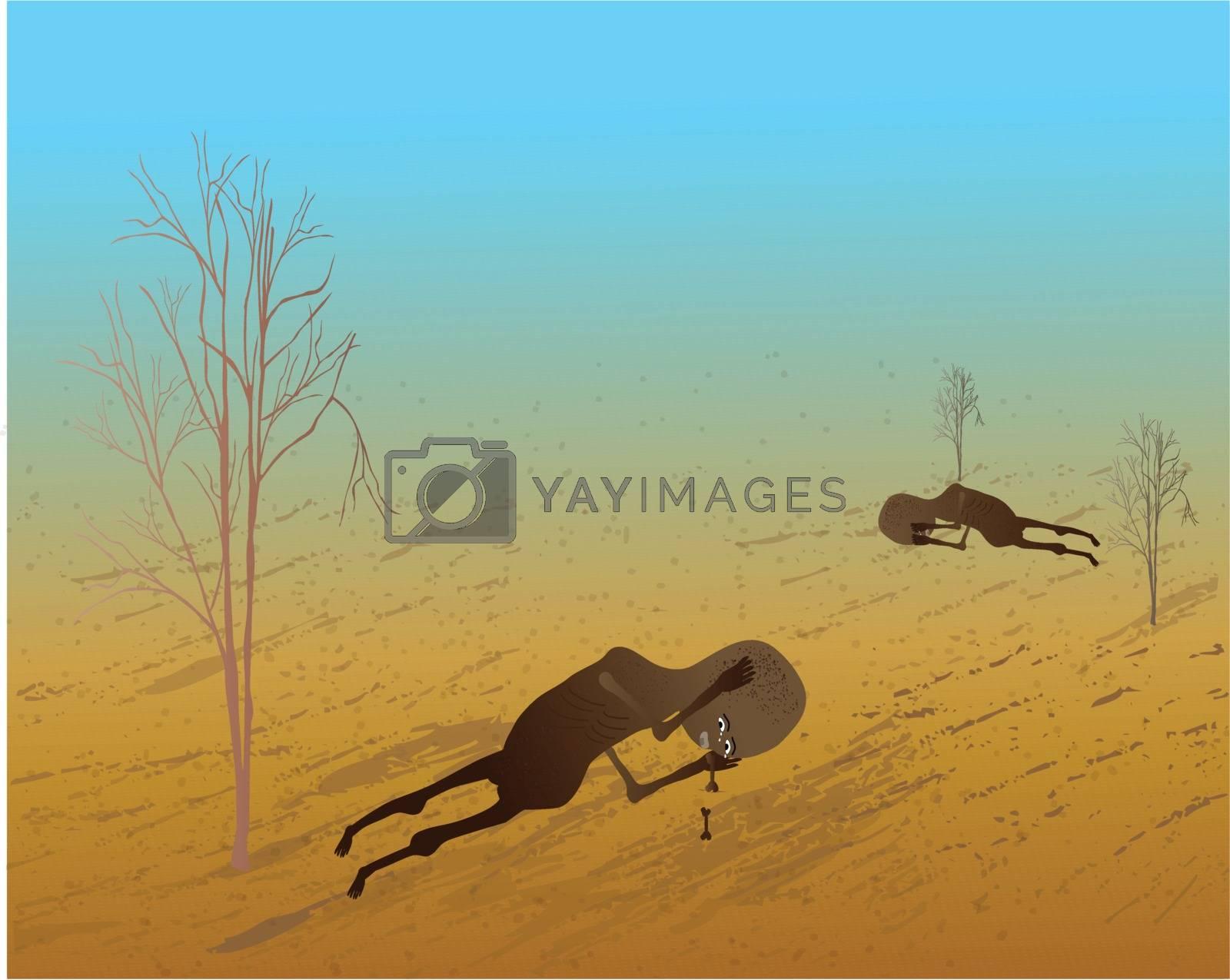 Children need your help. vector illustratio