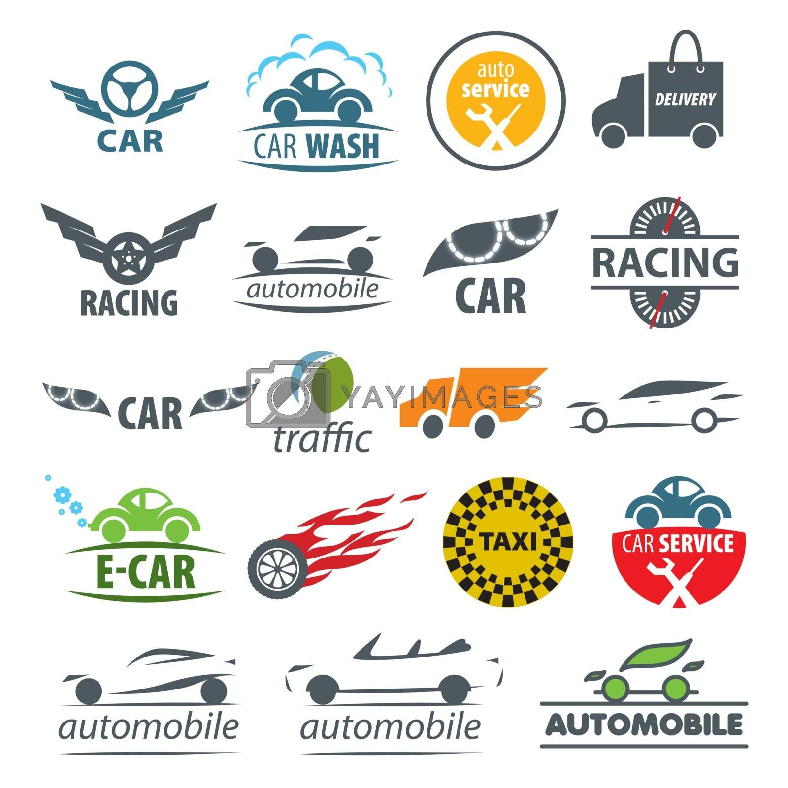 biggest collection of vector logos Car  by butenkow