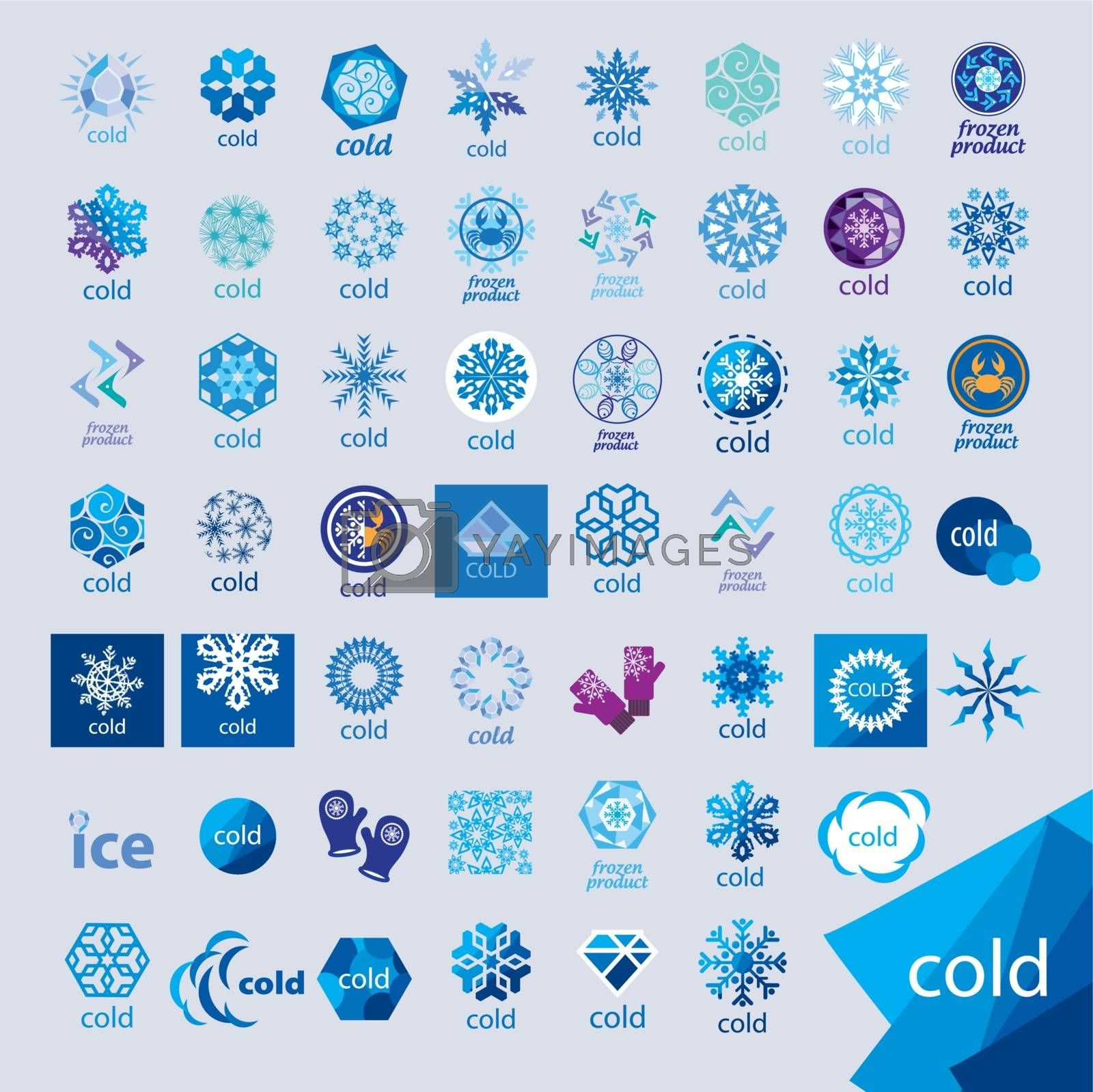 biggest collection of vector logos cold and frost by Butenkov