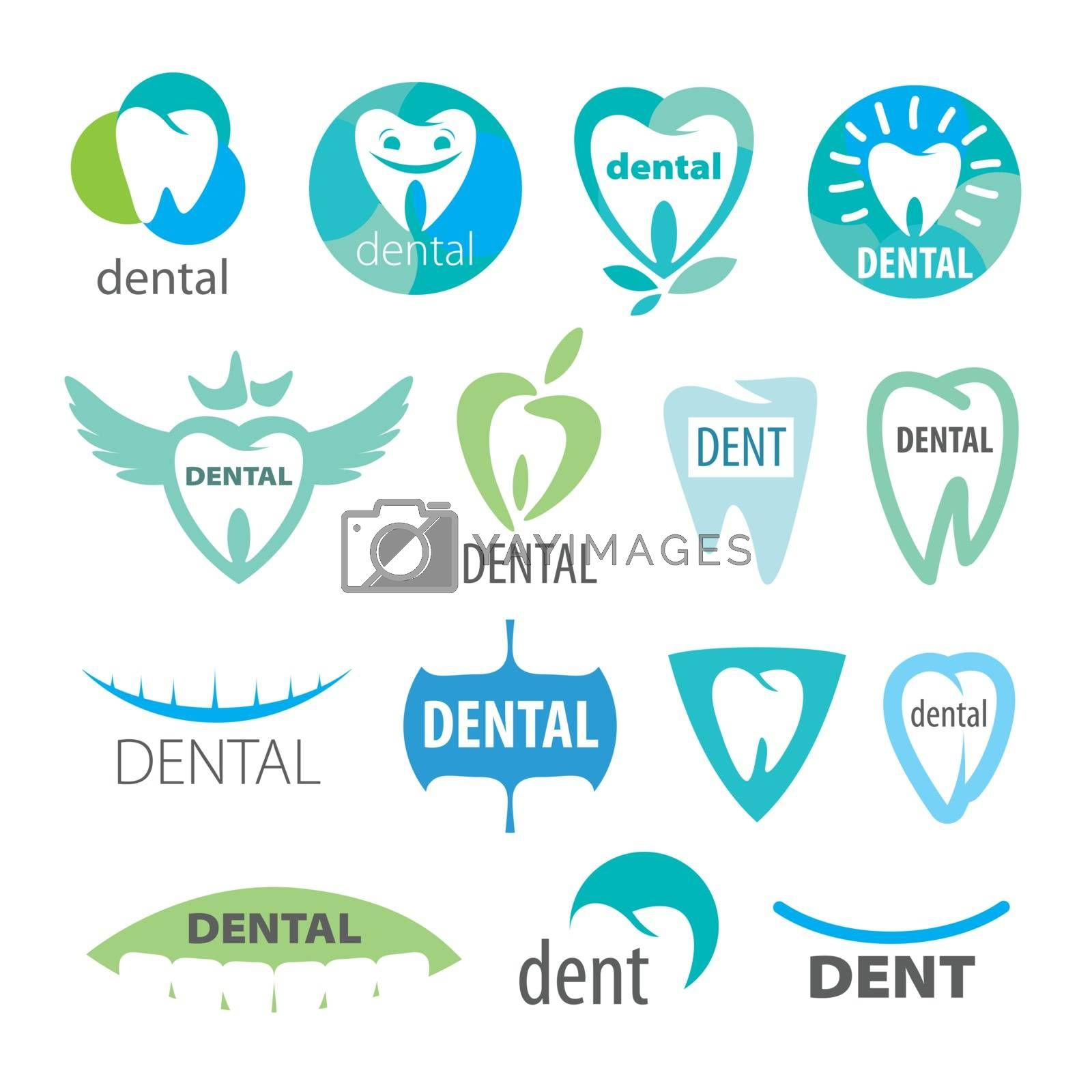 biggest collection of vector logos dentistry  by butenkow