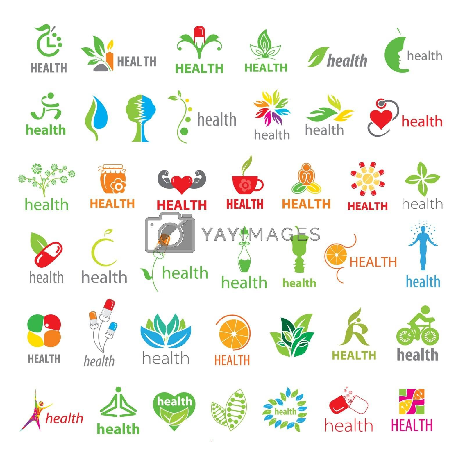 biggest collection of vector logos health  by Butenkov