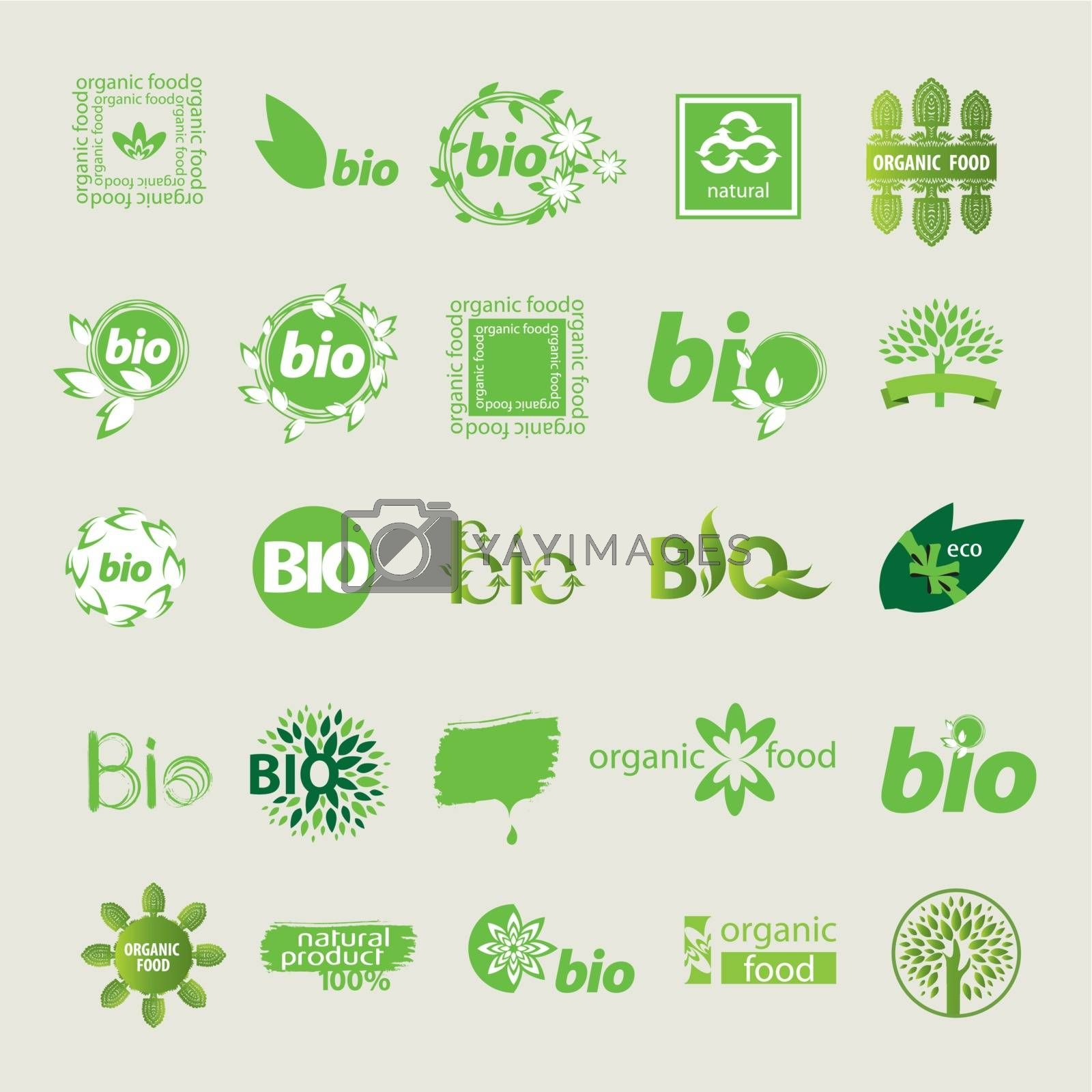 collection of vector eco sign by Butenkov