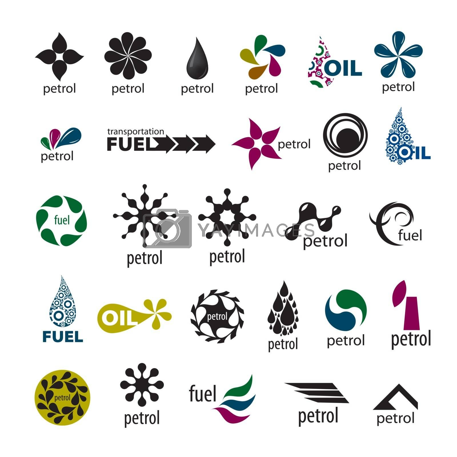 collection of vector logos and fuel oil