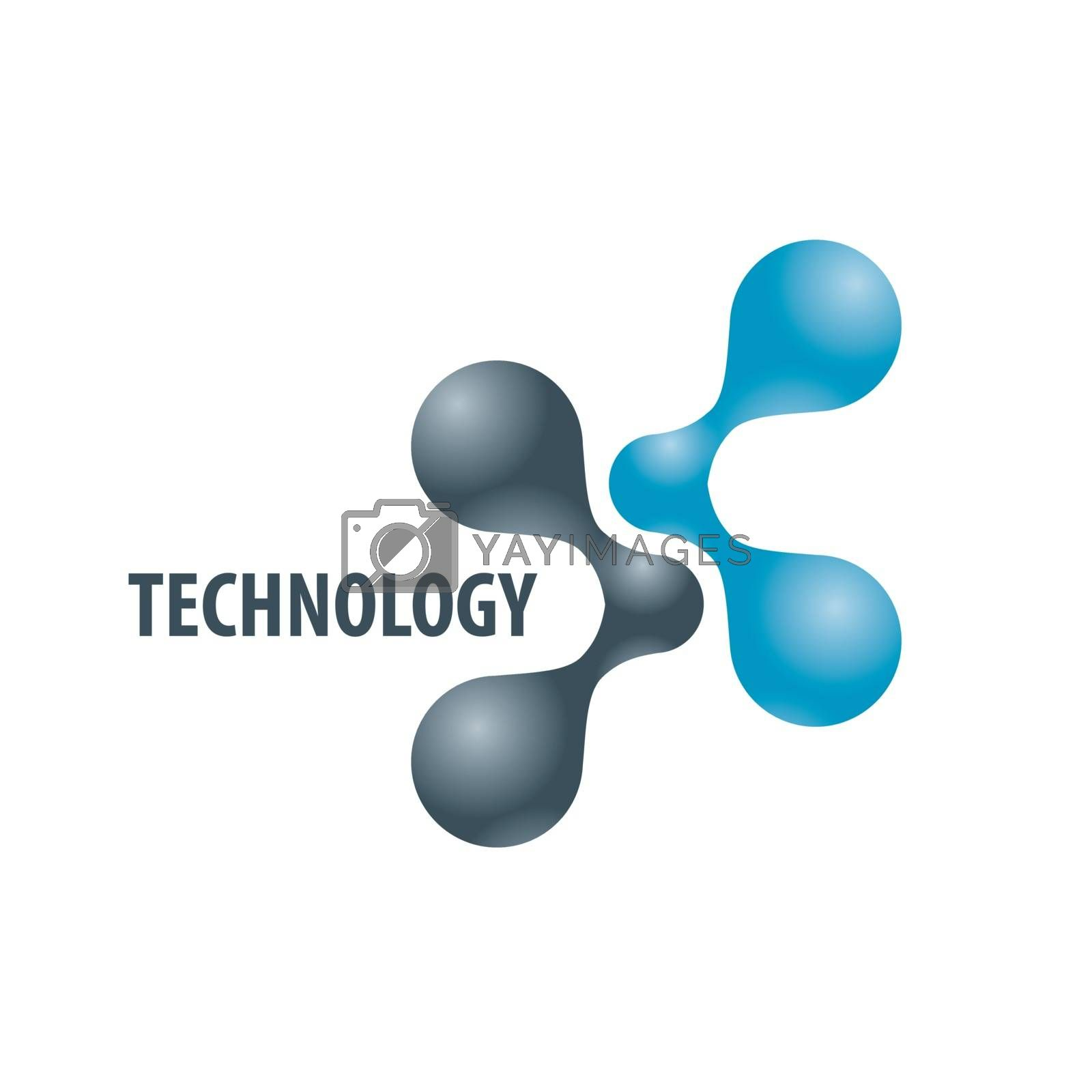 Technology logo in the form of atoms2 by Butenkov