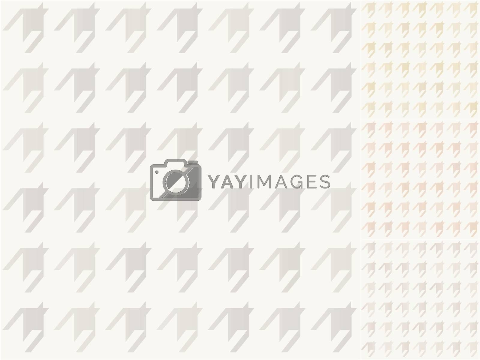 seamless houndstooth pattern with silver, gold, bronze gradient