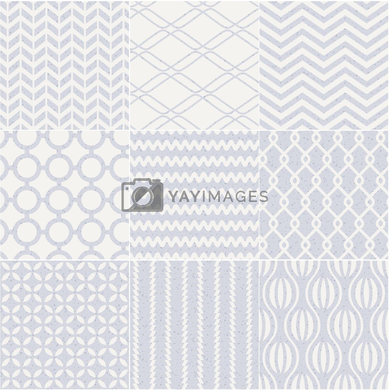 seamless geometric abstract pastel pattern