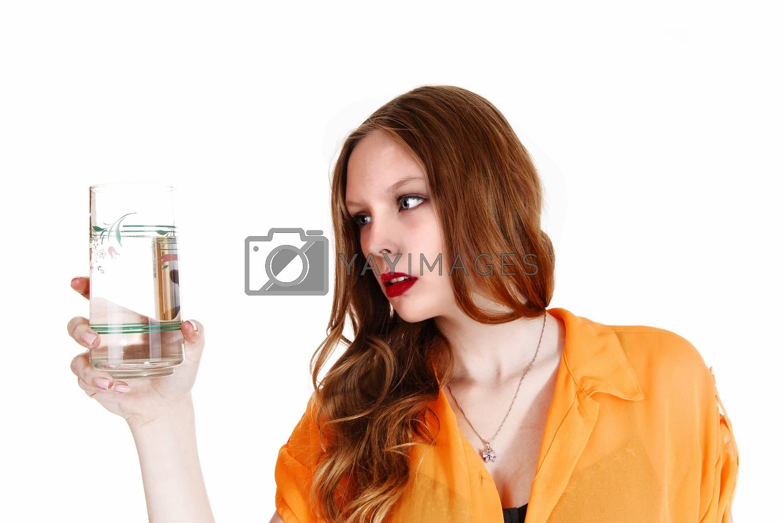 Girl with glass of water. by feierabend
