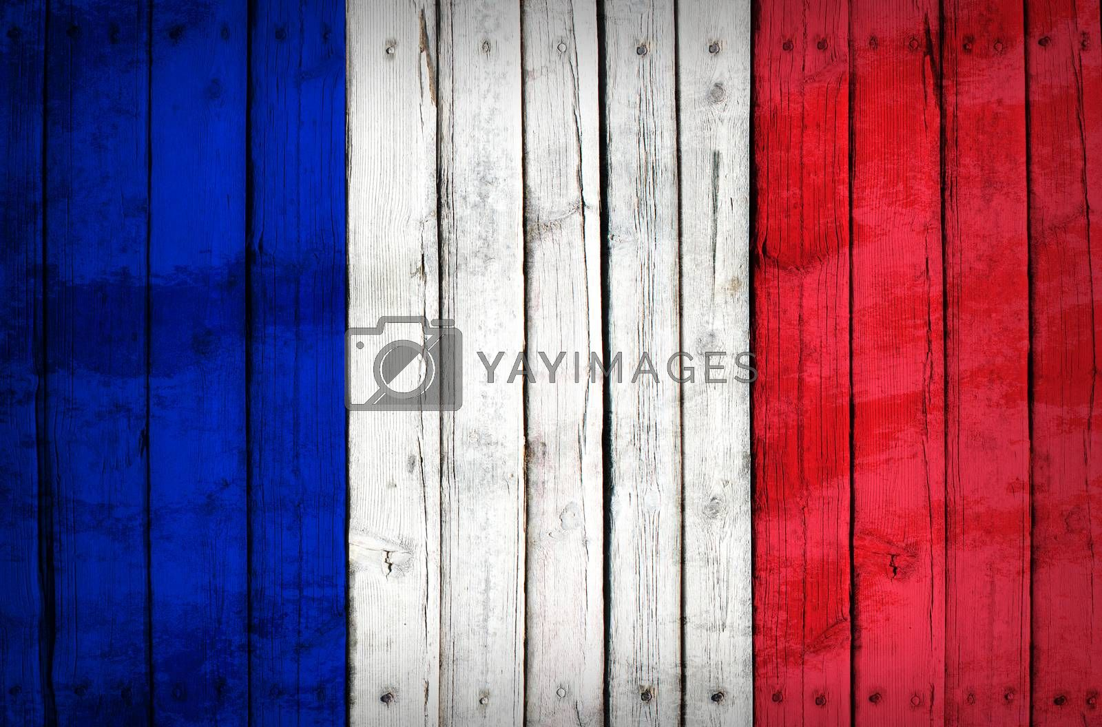 Flag of Italy painted on wooden boards by cherezoff