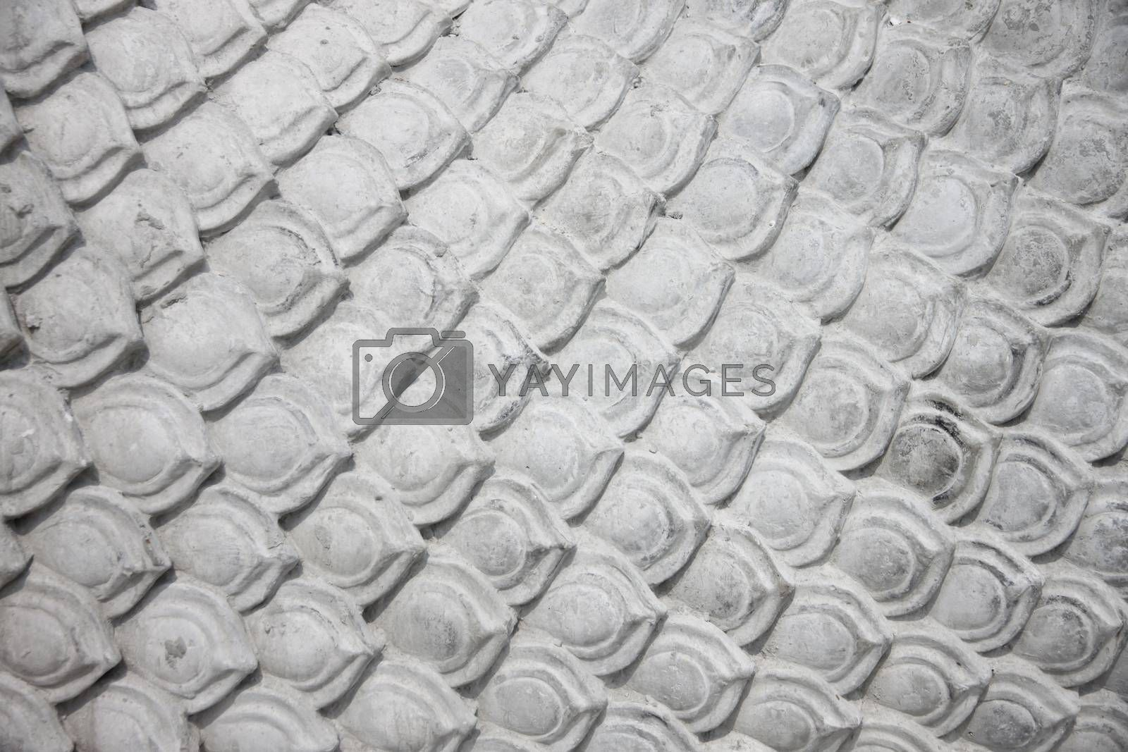 Patterns on cement floor of statue in construction. by meepoohyaphoto