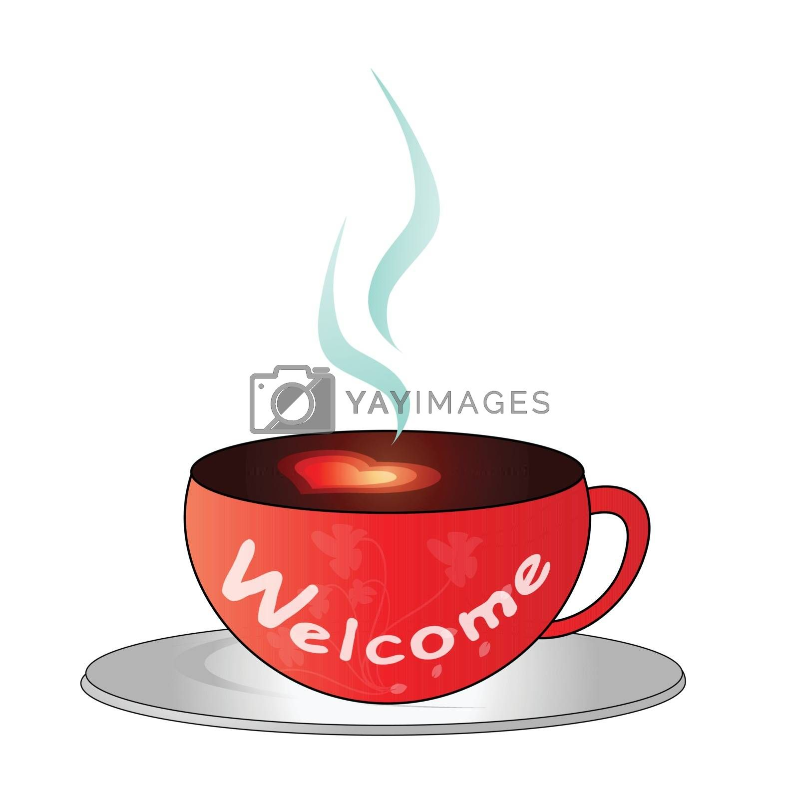 Coffee cup - Welcome by grace21