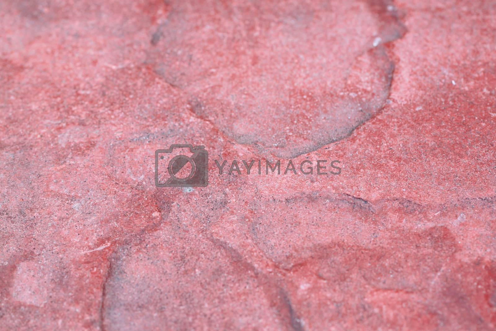 pattern slab of red stone. by PiyaPhoto