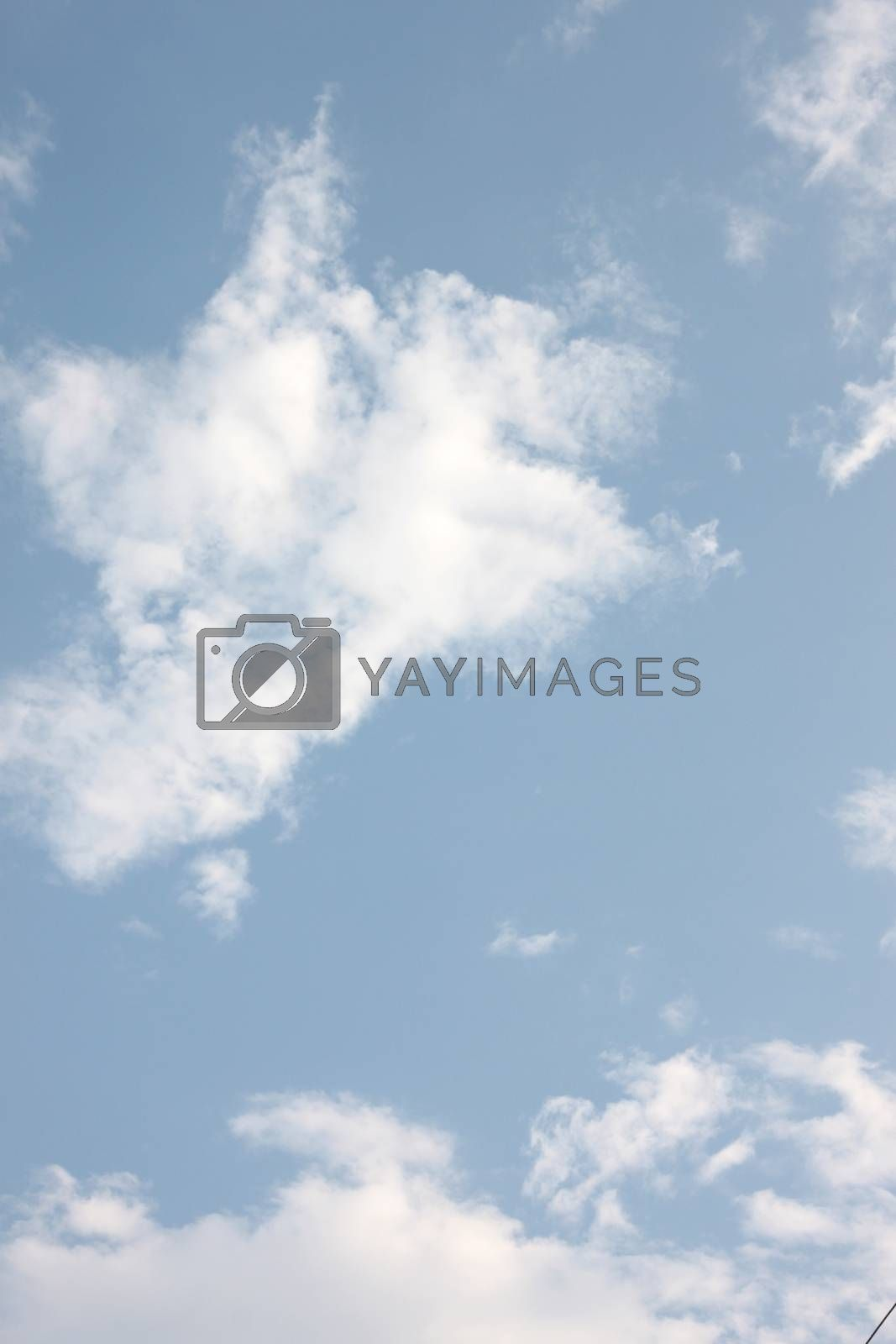 Blue sky and white clouds for background. by PiyaPhoto