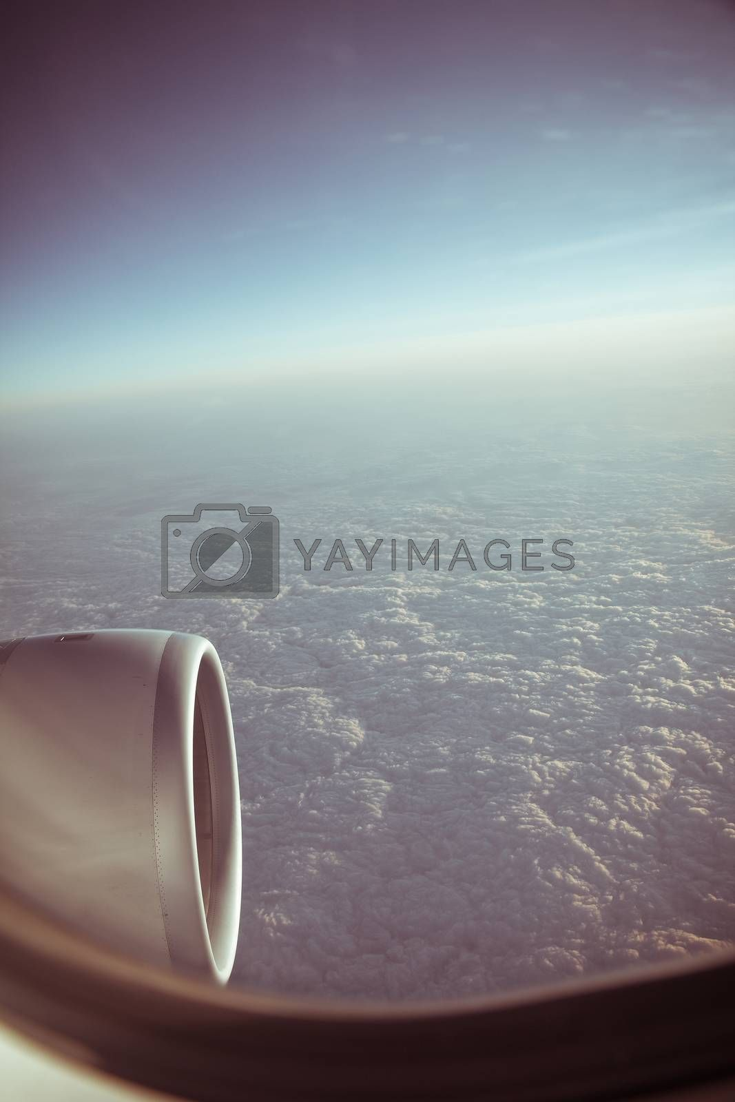 View through the aircraft window. by ponsulak