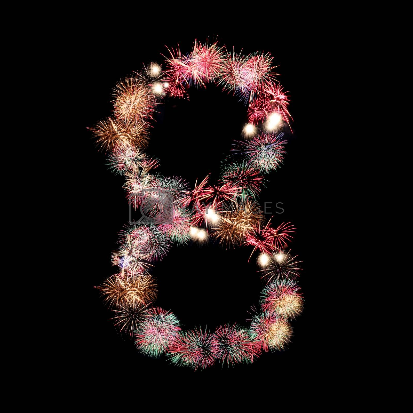 fireworks or firecracker of arrangement to be at number eight.