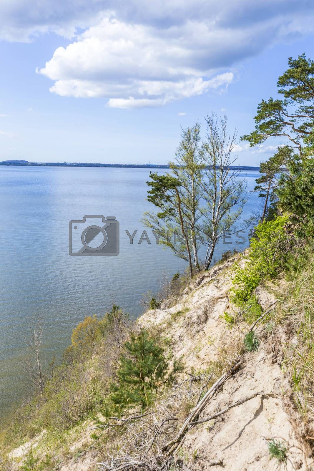 romantic steep cliff with lake by meinzahn