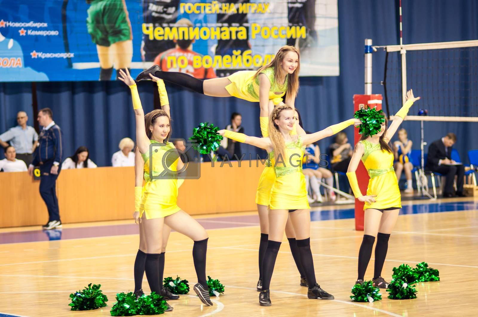 Girl cheerleading from the support team your favorite volleyball team by 0608195706081957