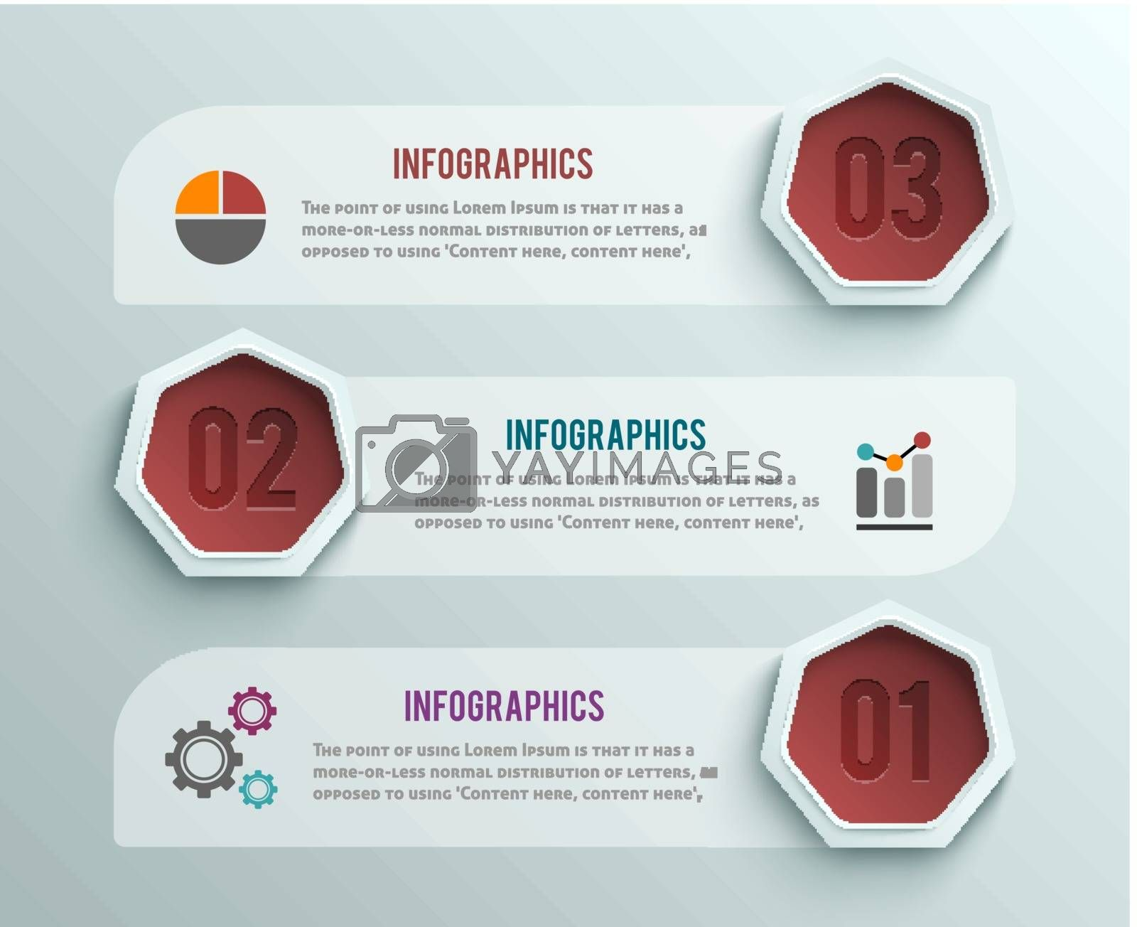 Business infographics banner origami style by robuart