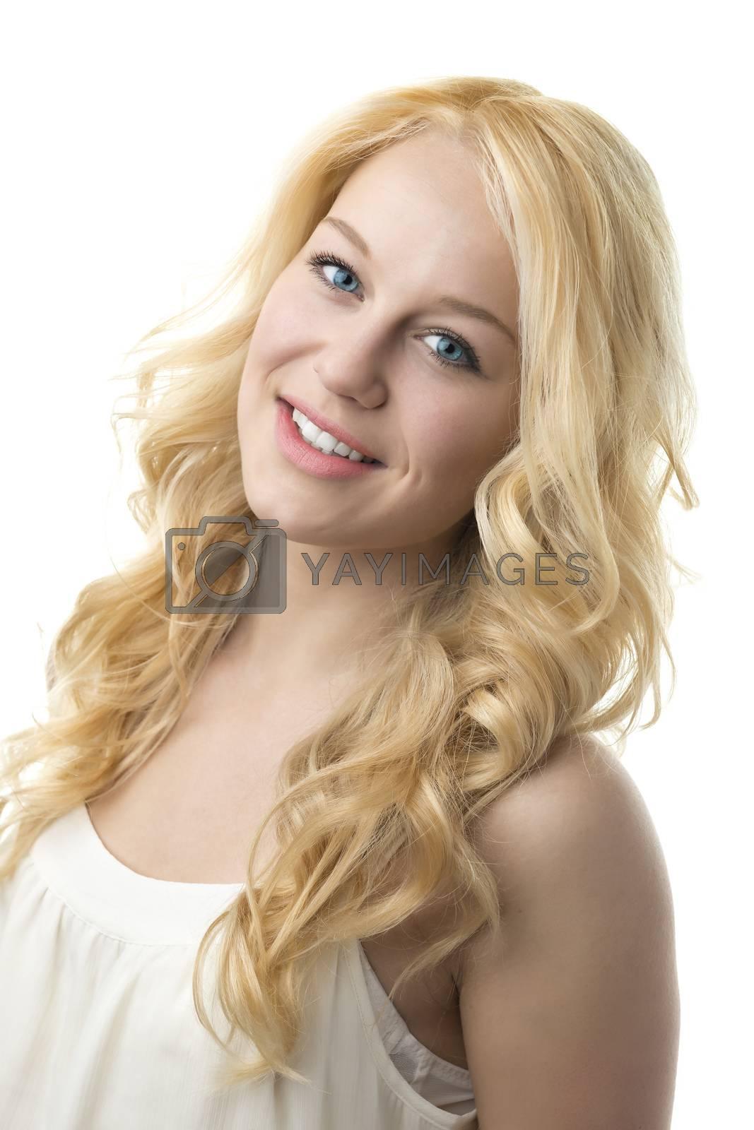 Portrait blond girl by Wolfgang Zwanzger