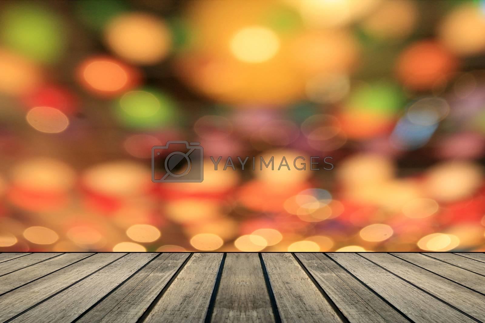 Royalty free image of Multicolored defocused bokeh lights background by studio2013