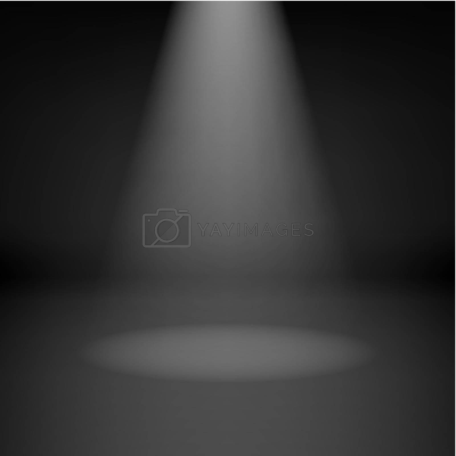 Royalty free image of Empty dark room with spotlight by dvarg