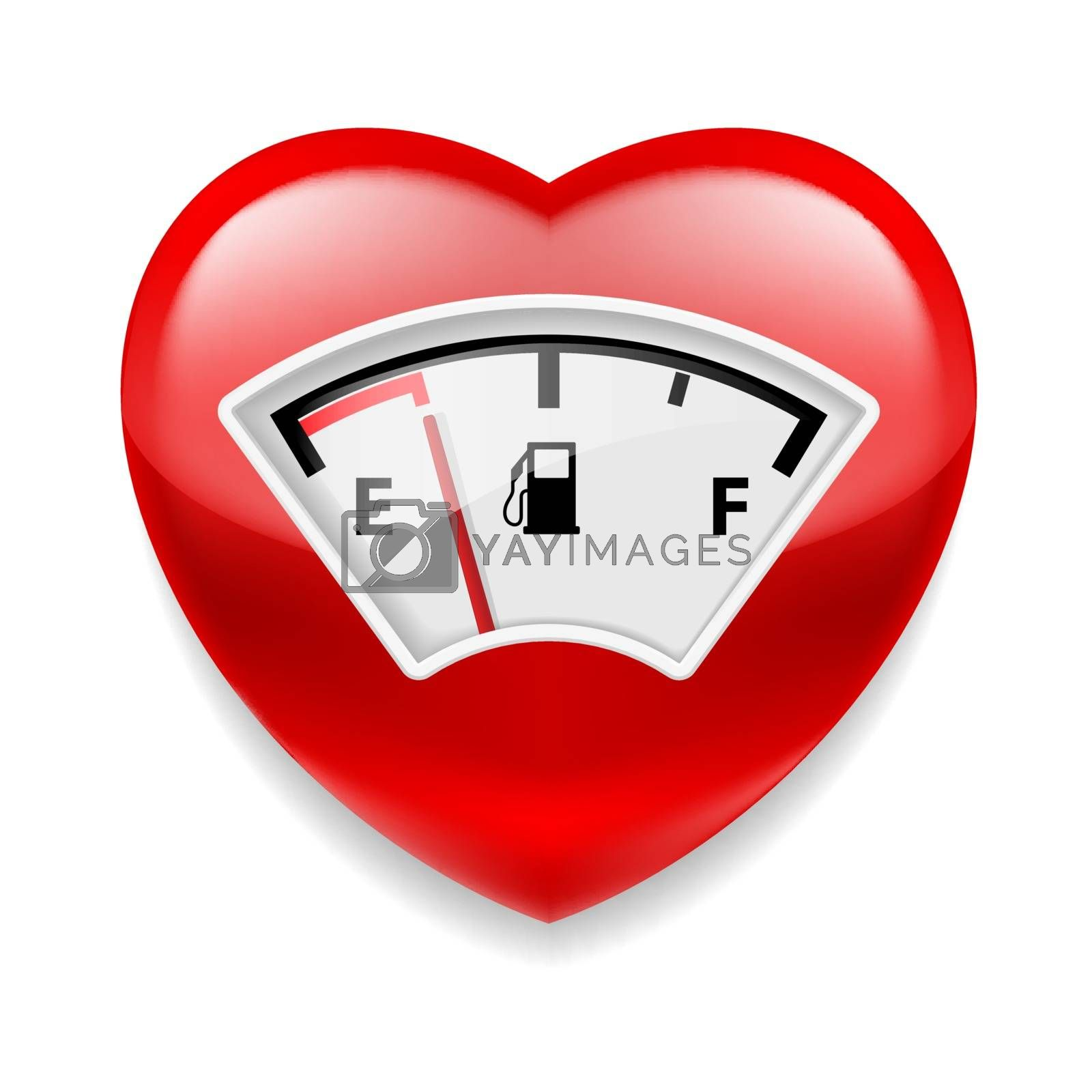 Royalty free image of Heart with fuel indicator by dvarg