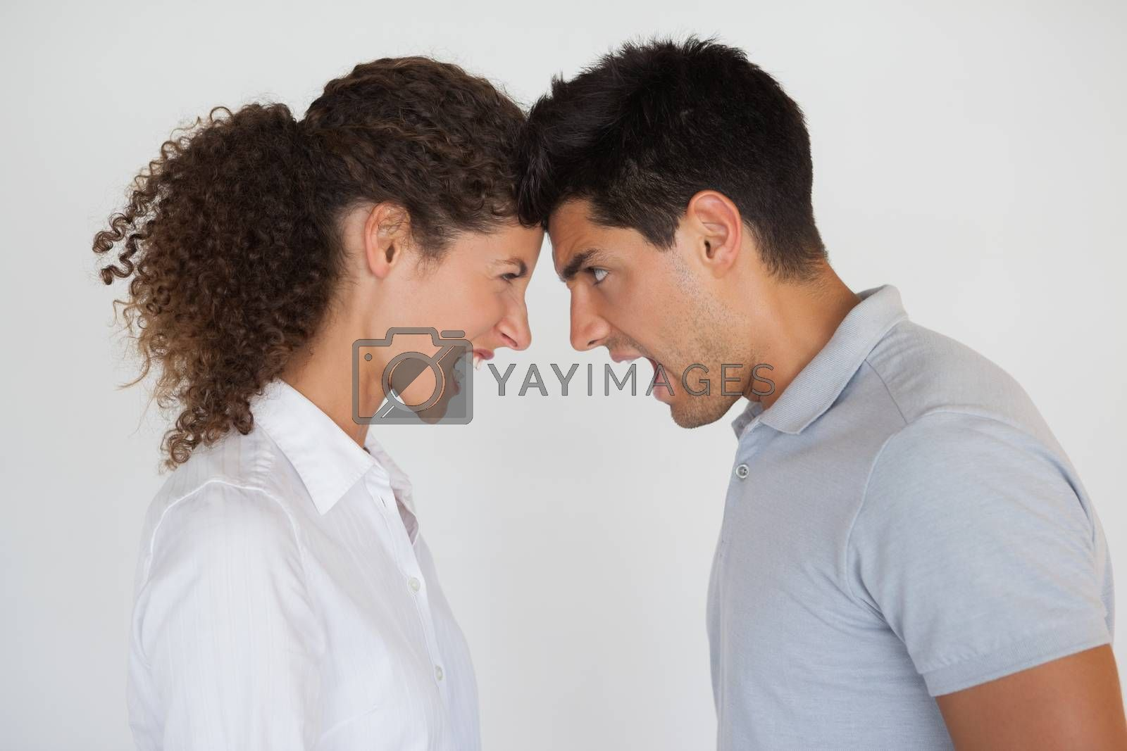 Royalty free image of Casual business partners having an argument by Wavebreakmedia
