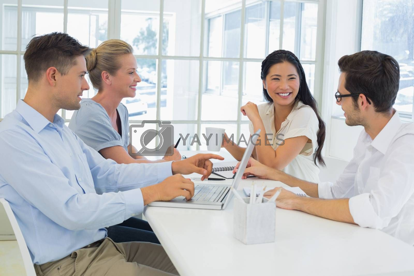 Royalty free image of Casual business team having a meeting by Wavebreakmedia