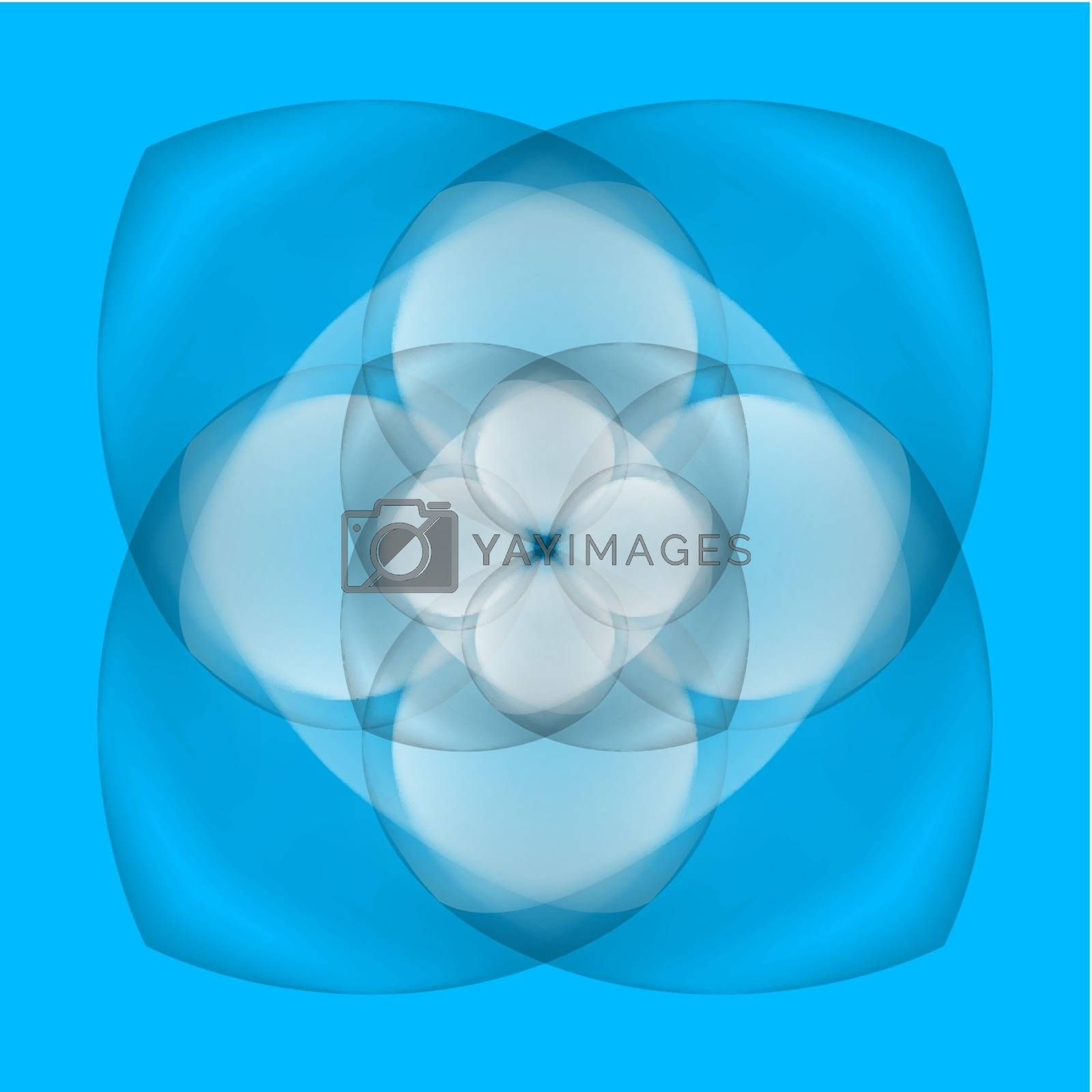 Royalty free image of Abstract flower on blue background by dvarg