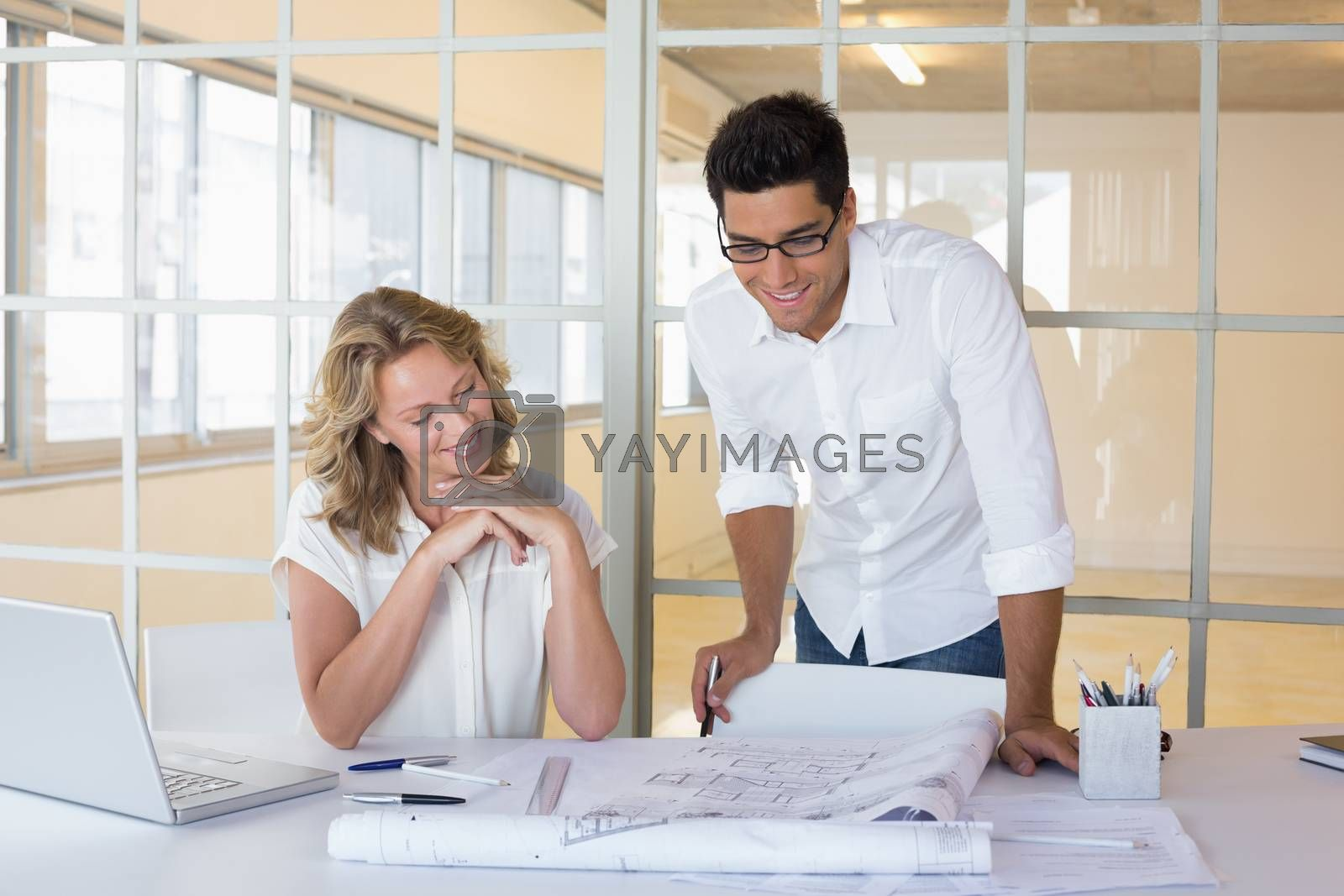 Royalty free image of Casual architecture team working together by Wavebreakmedia