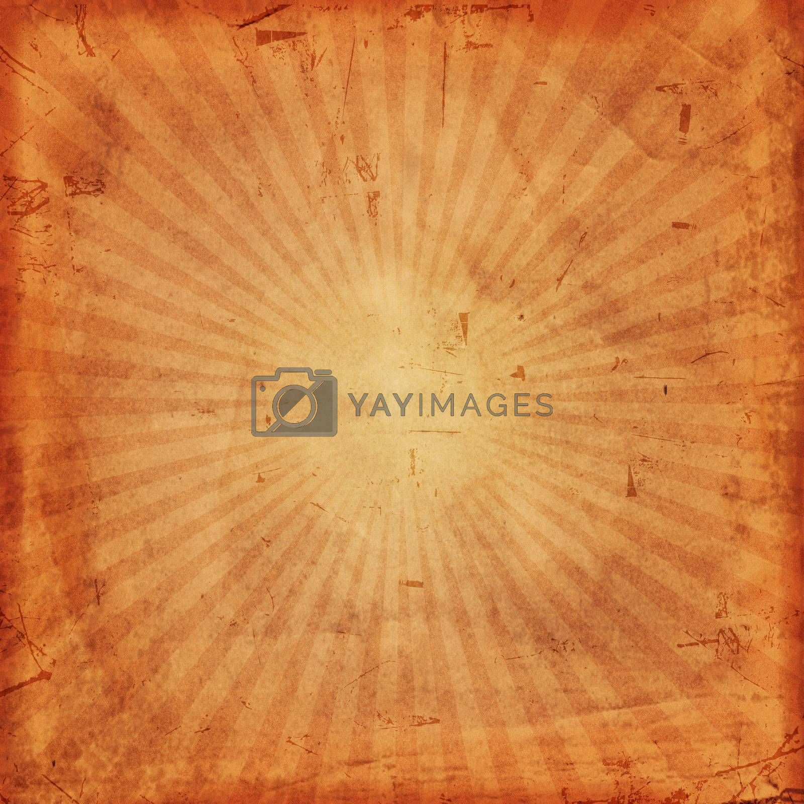 Royalty free image of vintage background with rays by marinini
