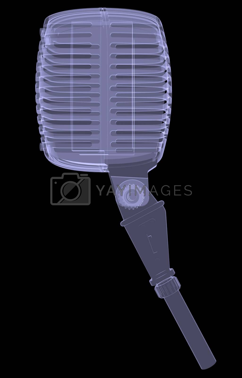 Royalty free image of Studio microphone. X-ray render by cherezoff