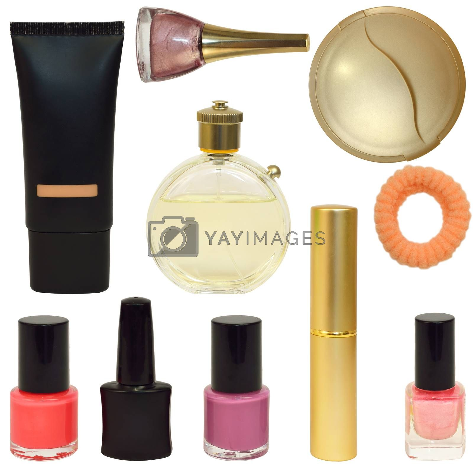 Royalty free image of Bottles with cosmetics by cherezoff