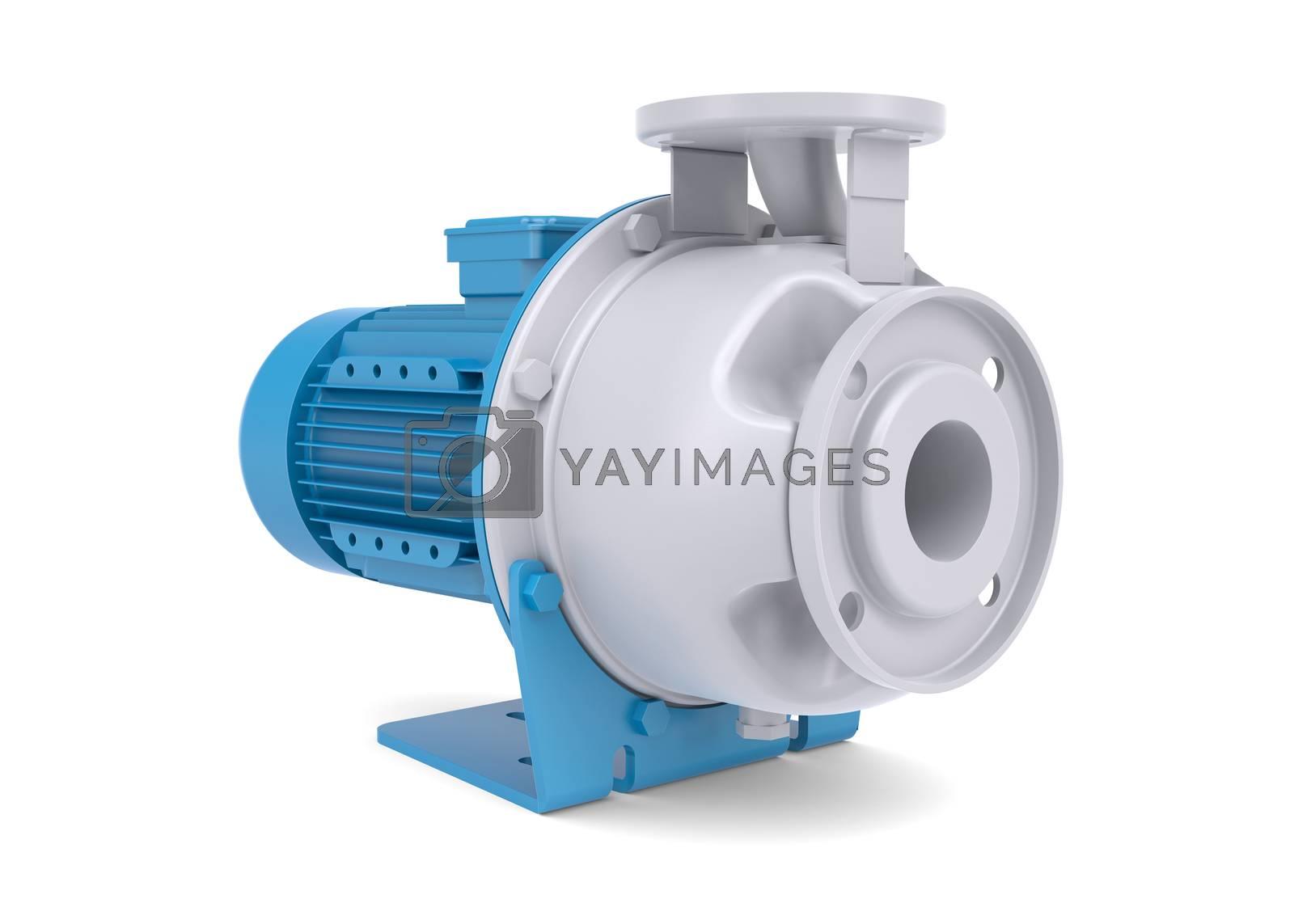 Royalty free image of Water pump motor by cherezoff