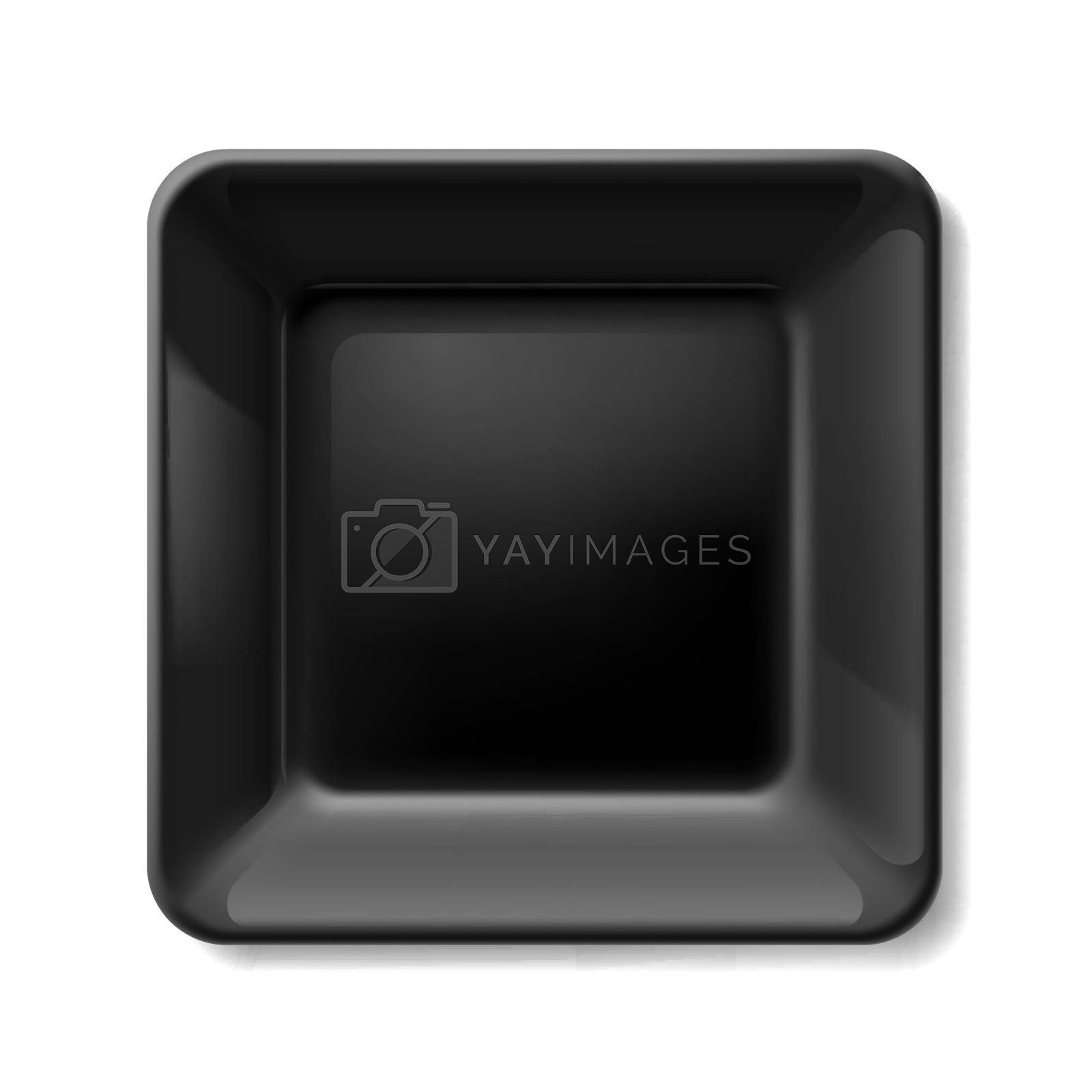 Royalty free image of Black plate by dvarg