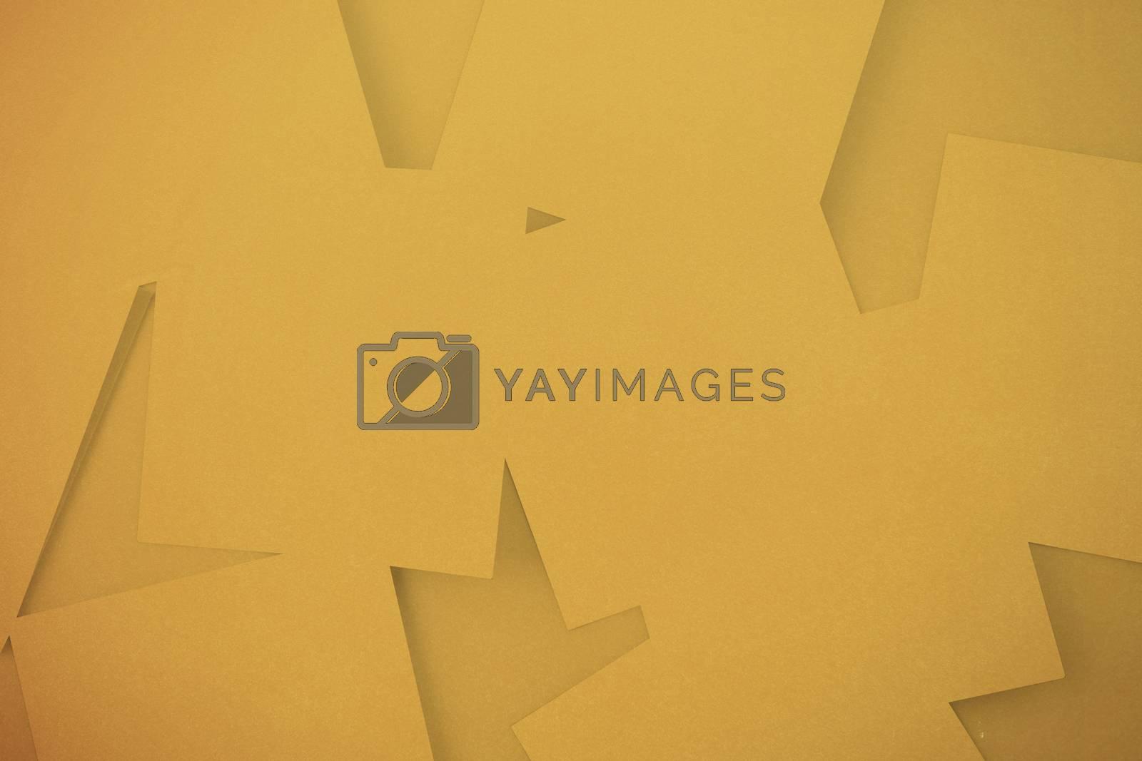 Royalty free image of Digitally generated orange paper strewn by Wavebreakmedia