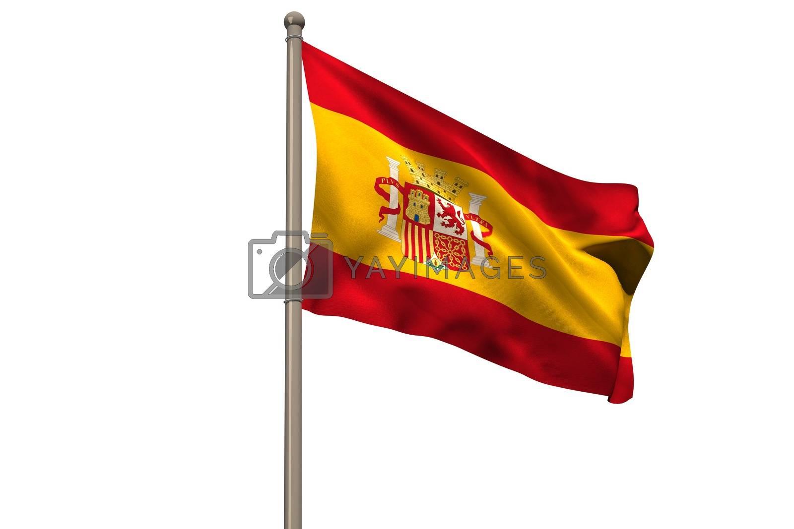 Royalty free image of Digitally generated spain national flag by Wavebreakmedia