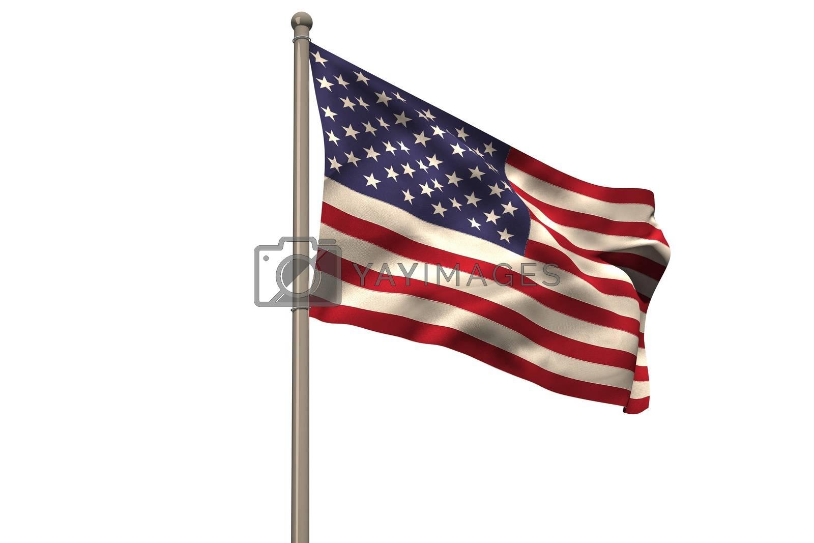 Royalty free image of Digitally generated american national flag by Wavebreakmedia