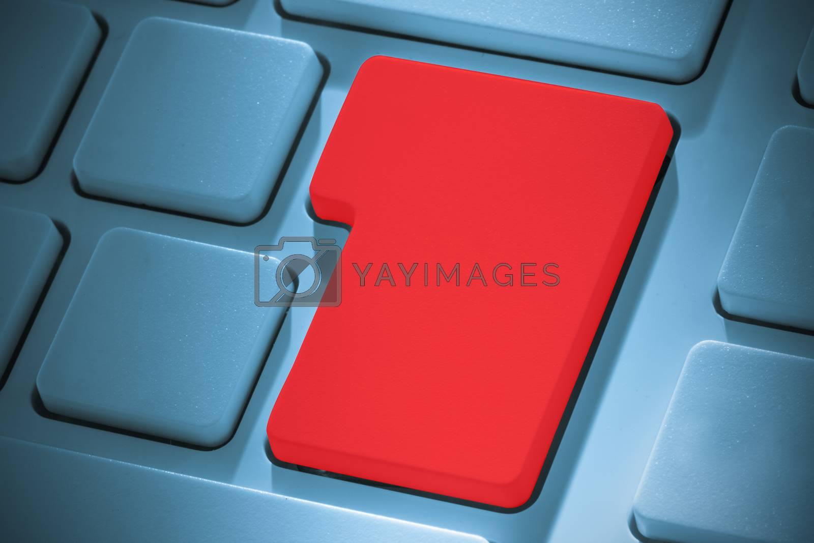 Royalty free image of Red enter key on keyboard by Wavebreakmedia