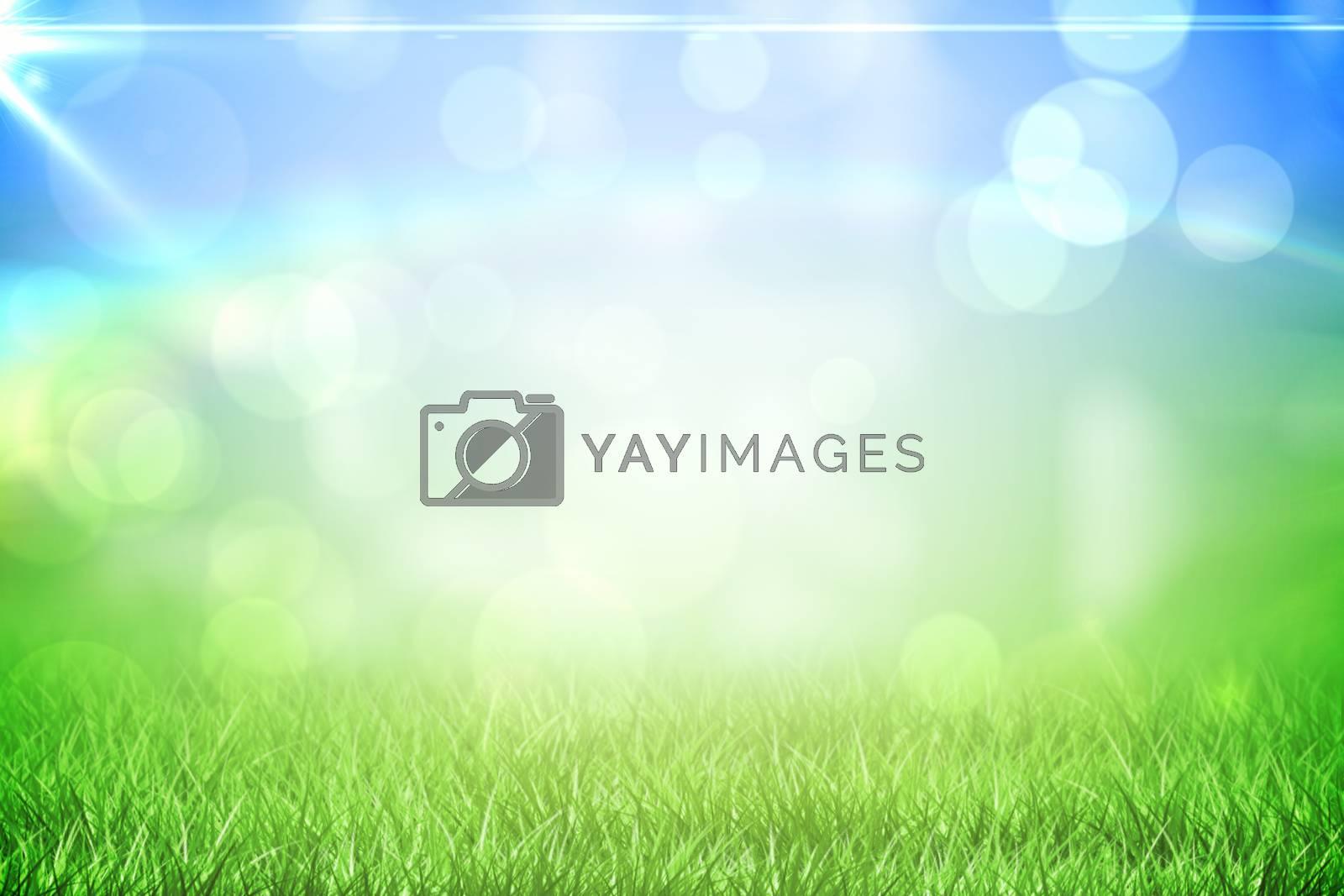 Royalty free image of Grass under a sunny sky by Wavebreakmedia
