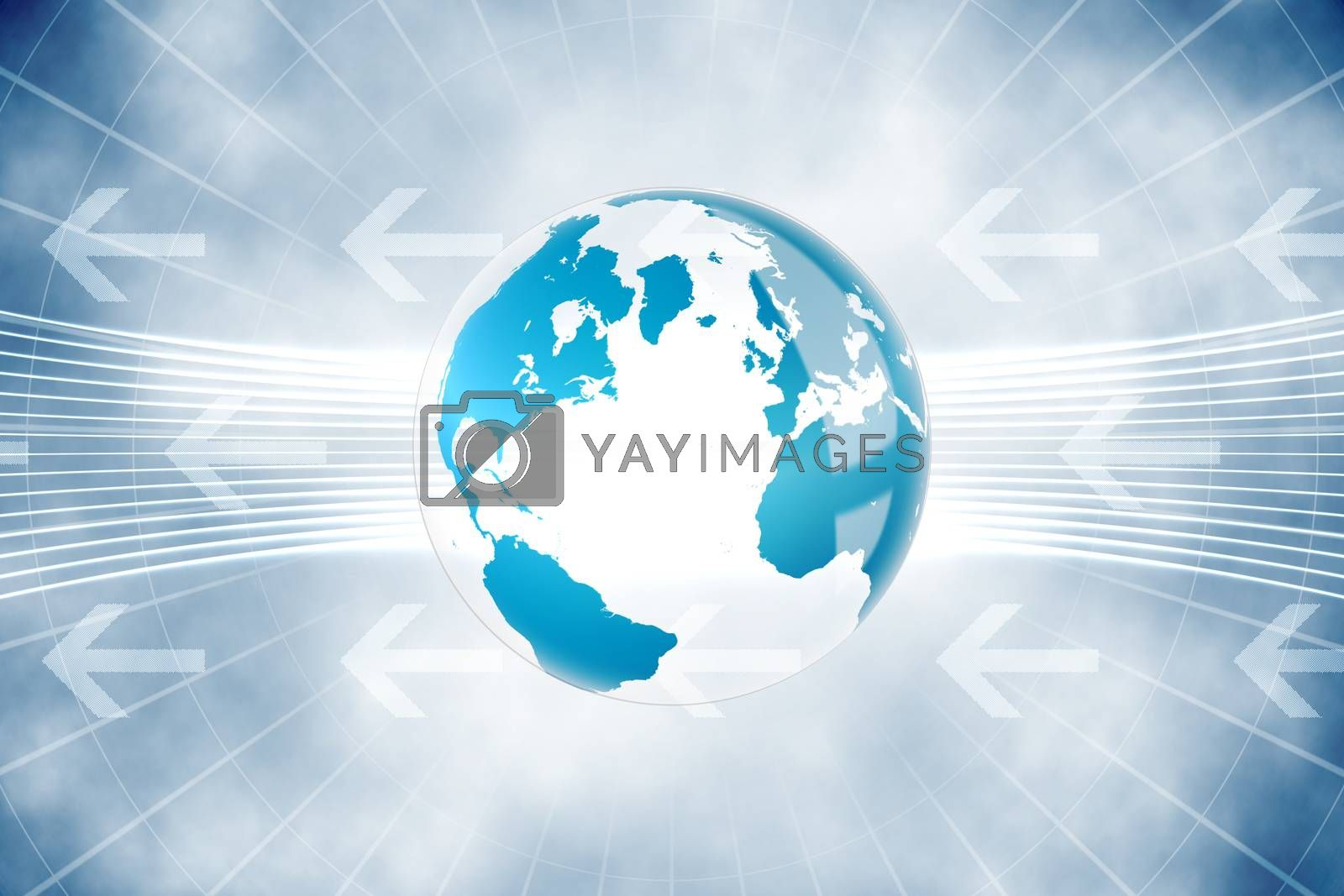 Royalty free image of Global business graphic in blue by Wavebreakmedia