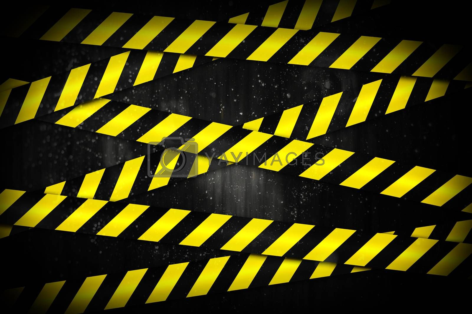 Royalty free image of Yellow and black cordon tape by Wavebreakmedia