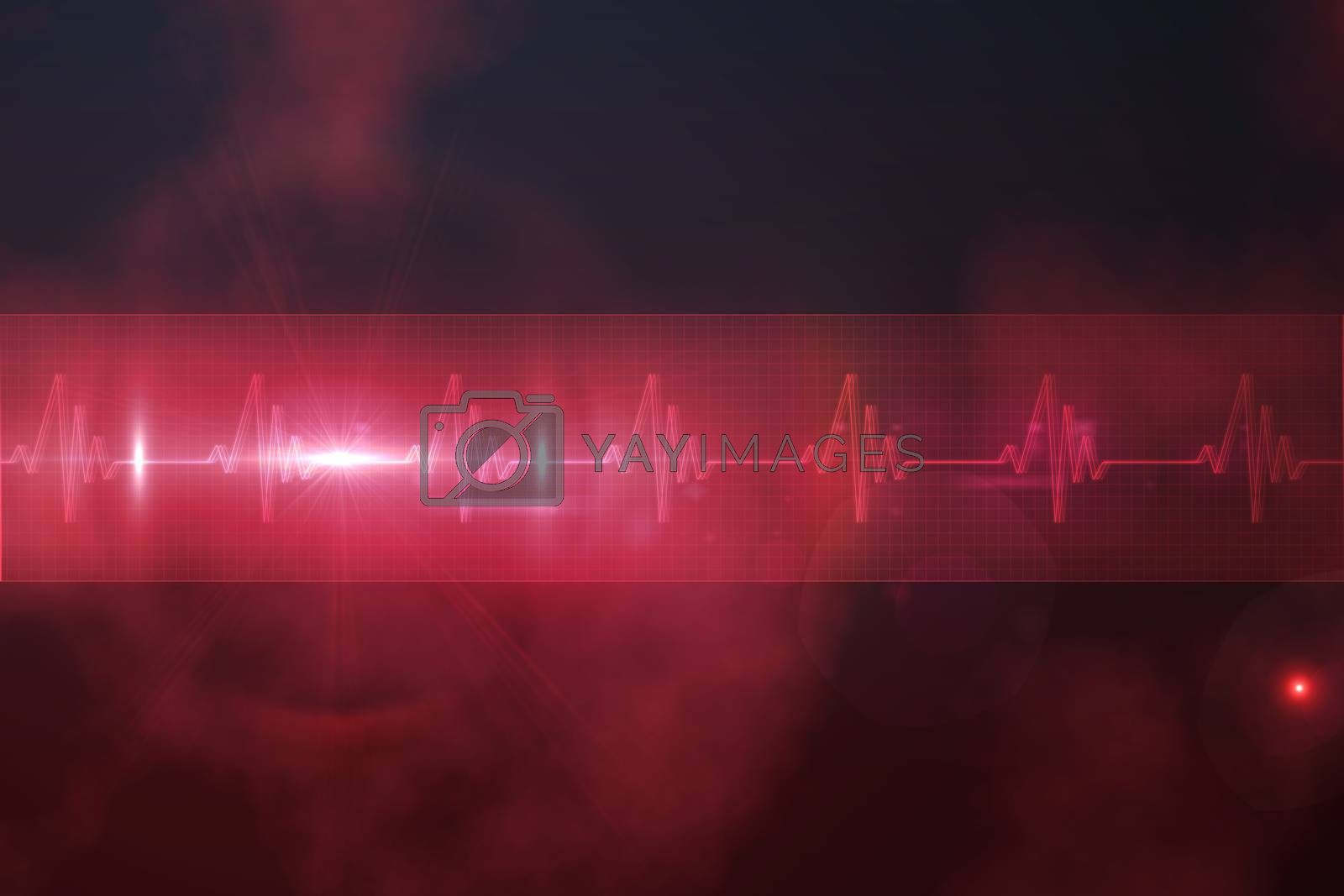 Royalty free image of ECG line in red and black by Wavebreakmedia