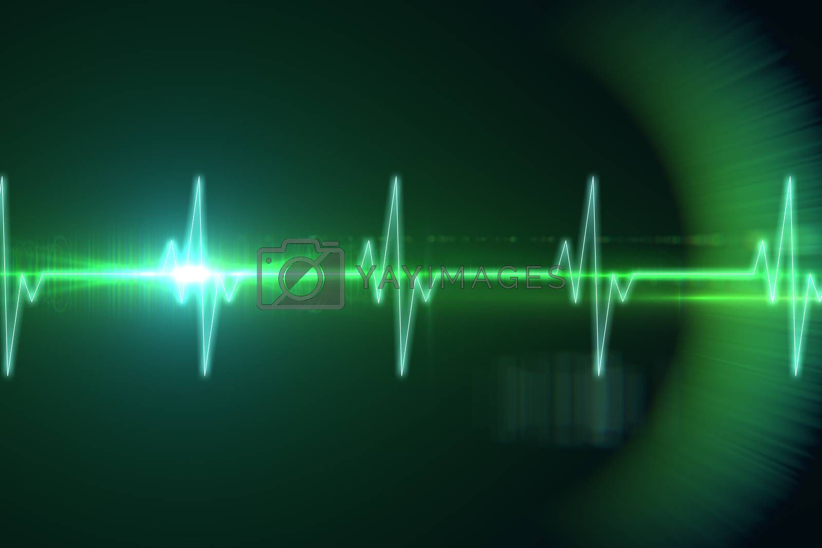 Royalty free image of ECG line in black and green by Wavebreakmedia