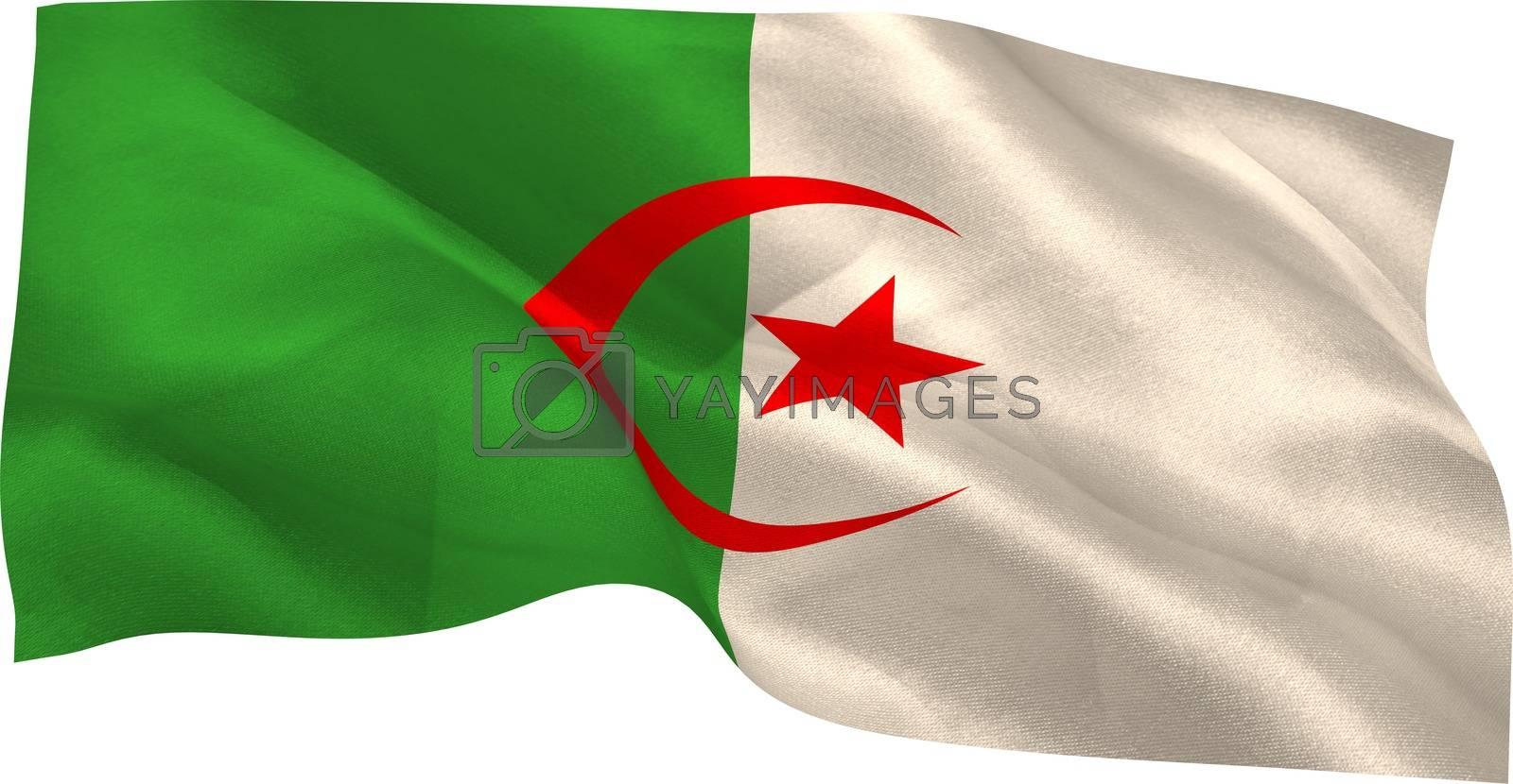 Royalty free image of Digitally generated algeria national flag by Wavebreakmedia