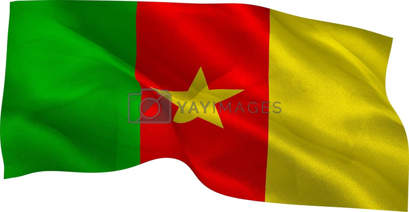 Royalty free image of Digitally generated cameroon national flag by Wavebreakmedia