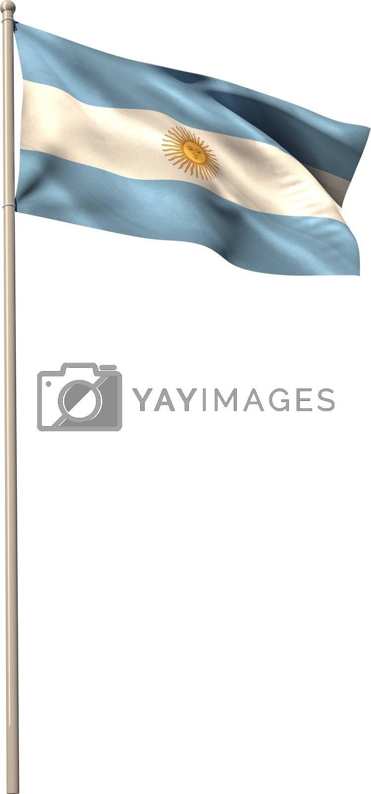 Royalty free image of Digitally generated argentina national flag by Wavebreakmedia