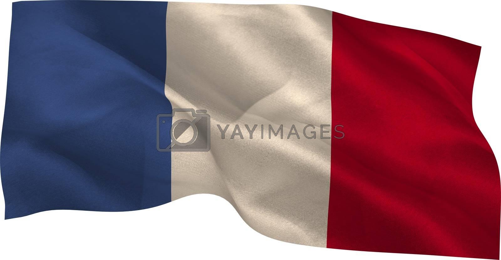 Royalty free image of Digitally generated france national flag by Wavebreakmedia