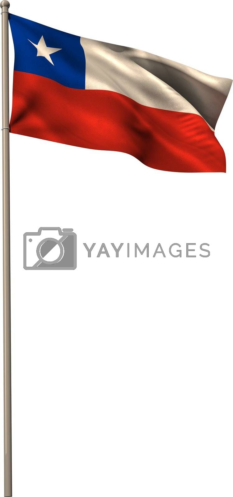 Royalty free image of Digitally generated chile national flag by Wavebreakmedia