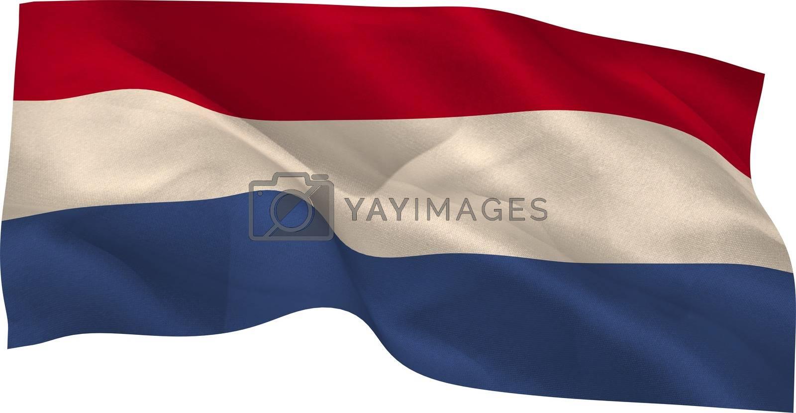 Royalty free image of Digitally generated dutch national flag by Wavebreakmedia
